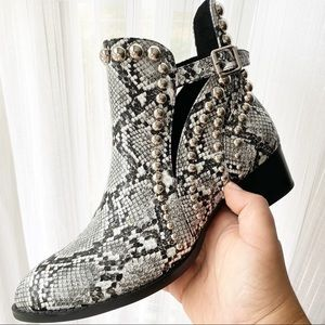 JEFFREY CAMPBELL Rylance Studded Bootie New